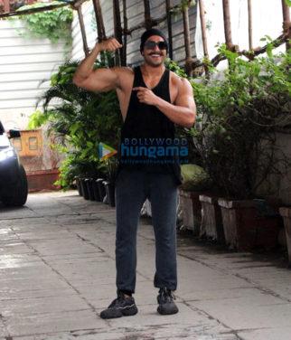 Ranveer Singh, Bipasha Basu and Karan Singh Grover snapped outside the gym
