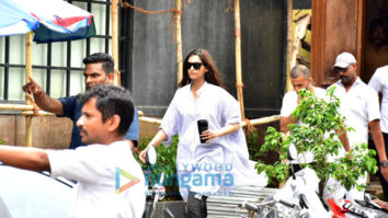 Sonam Kapoor Ahuja and Anand Ahuja spotted at their new shop in Bandra