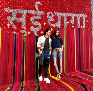 Anushka Sharma and Varun Dhawan grace the trailer launch of their film 'Sui Dhaaga – Made In India'