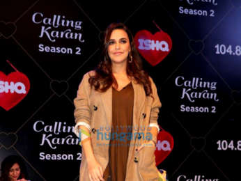 Karan Johar and Neha Dhupia snapped on sets of Calling Karan Season 2