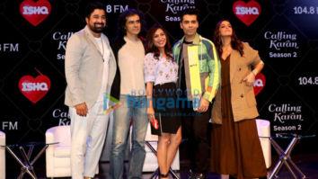 Karan Johar and Neha Dhupia snapped on sets of Calling Karan Season 2