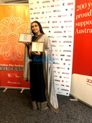 Rani Mukerji, Rajkumar Hirani and Richa Chadda receive awards at Indian Film Festival of Melbourne Awards 2018