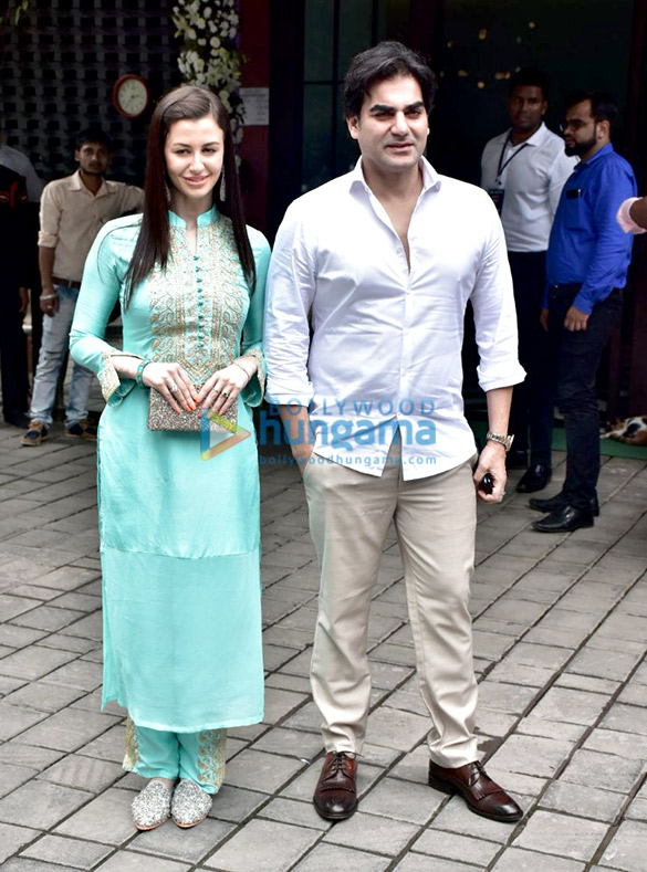Arbaaz Khan and others snapped at Arpita Khan's residence for Ganpati
