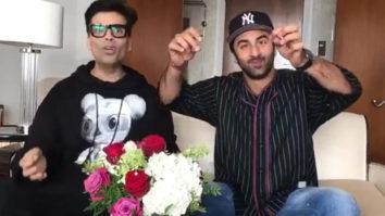 BFFs Karan Johar and Ranbir Kapoor attempt Varun Dhawan - Anushka Sharma's Sui Dhaaga Challenge