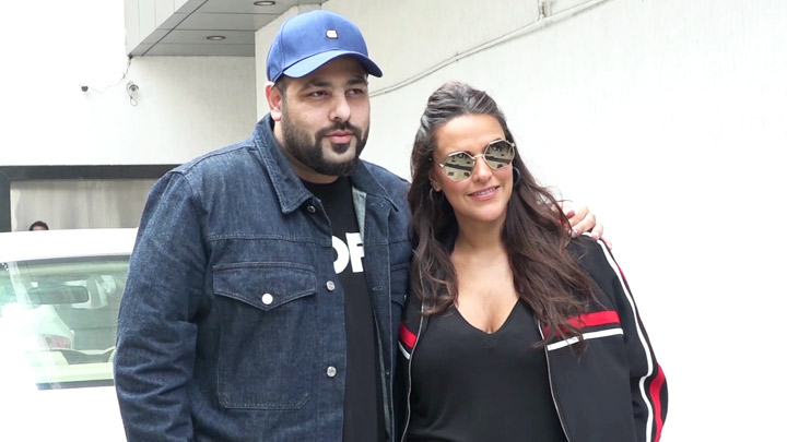 Neha Dhupia & Badshah SPOTTED shooting for #NoFilterNeha Season 3