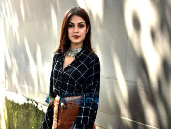 Rhea Chakraborty snapped outside the Vishesh Films' office