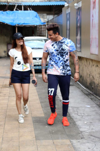 Yuvika Chaudhary and Prince Narula spotted in Bandra