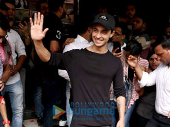 Aayush Sharma snapped at Chandan Cinema in Juhu