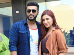 Arjun Kapoor and Parineeti Chopra spotted promoting their movie Namaste England at Novotel, Juhu
