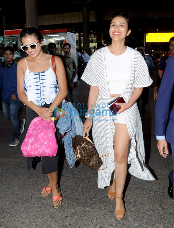 Parineeti Chopra, Raveena Tandon and Kunal Khemu snapped at the airport