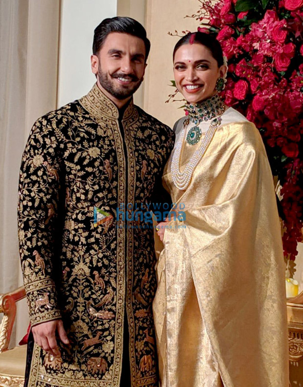 Deepika Padukone- Ranveer Singh Reception Newlyweds look REGAL and RADIANT in Bengaluru