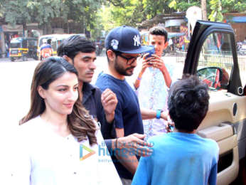 Kunal Khemu and Soha Ali Khan spotted at Bastain