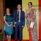 Manushi Chhillar snapped at the Belgian Consulate Red Carpet for the Belgium King Day Celebration
