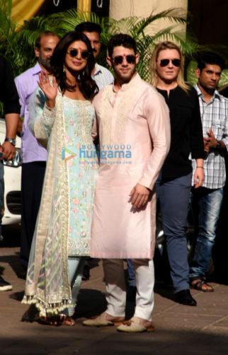 Priyanka Chopra, Nick Jonas snapped with Joe Jonas, Sophie Turner and others after Puja ceremony
