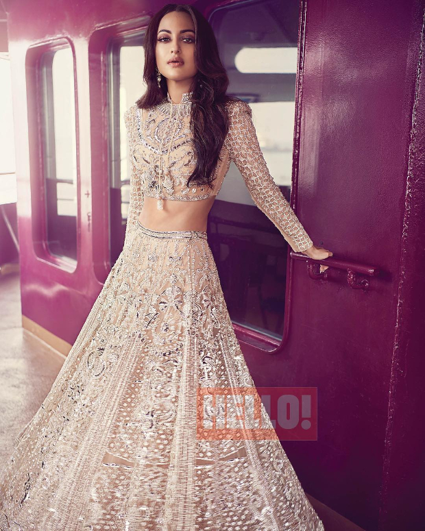 Sonakshi Sinha in Falguni and Shane Peacock for HELLO! magazine photoshoot