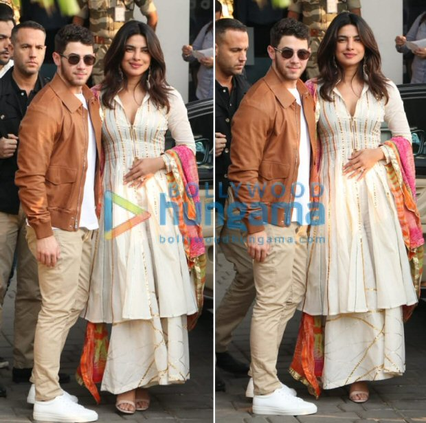 Priyanka Chopra and Nick Jonas Are All Smiles at Their Puja Ceremony