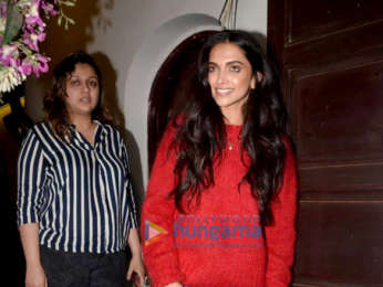 Deepika Padukone snapped at Krome Studio in Bandra