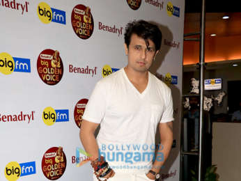 Sonu Nigam snapped at the 92.7 Big FM office